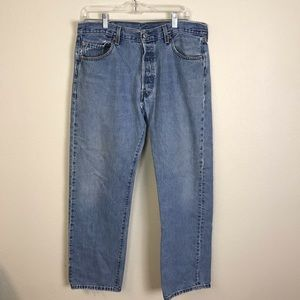 Levi's destroyed distressed 501 buttonfly jeans